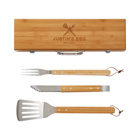 Image for Bamboo 3 Piece BBQ Tool Set