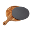 Image for Round Slate & Acacia Wood Cutting Board