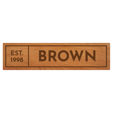 Image for Wooden House Sign 5x20
