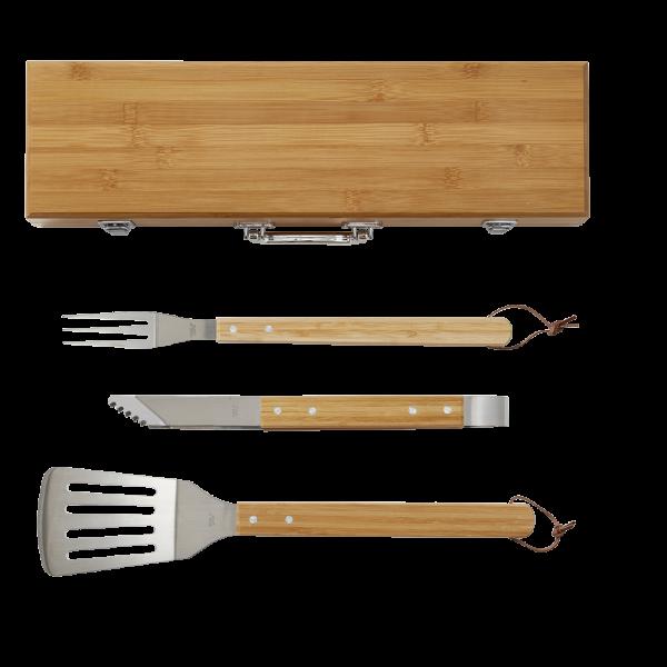 Bamboo 3 Piece BBQ Tool Set